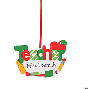 "Personalized ""Teacher"" Ornament"