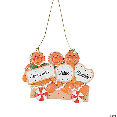 Three Gingerbread Men Christmas Ornament