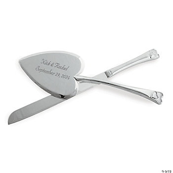 Personalized Heart-Shaped Serving Set