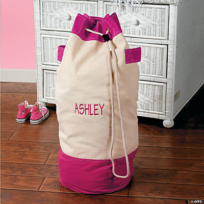 Pink & White Duffle Bag