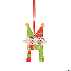 Personalized Elves Ornament - Two Elves