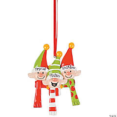 Personalized Elves Ornament - Three Elves
