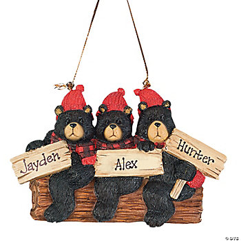 Black Bears Ornament - Three Bears