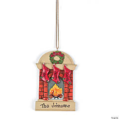 Three Stockings Family Ornament