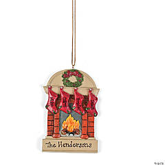 Personalized Christmas Ornament - Four Family Stockings
