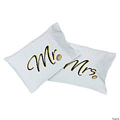 "Personalized ""Mr."" & ""Mrs."" Pillow Cases"