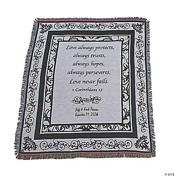 Black & White Wedding Throw