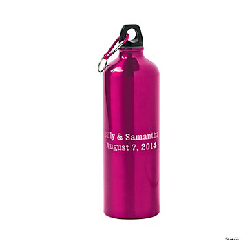 Personalized Pink Water Bottle
