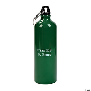 Green Personalized Aluminum Water Bottle