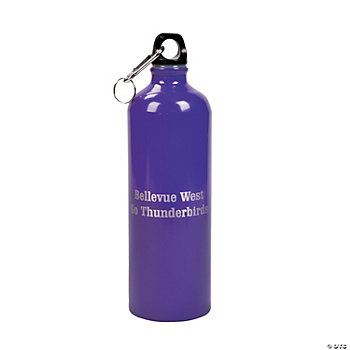 Personalized Purple Water Bottle