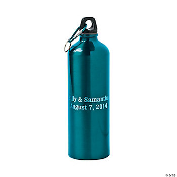 Personalized Teal Aluminum Water Bottle