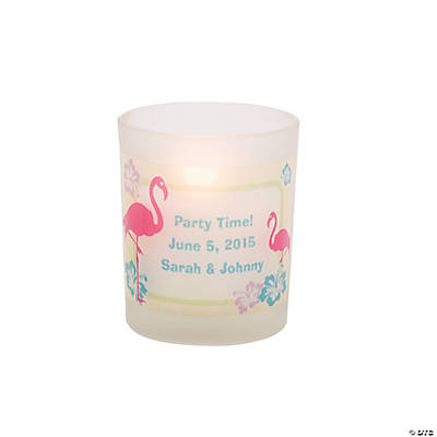Personalized Flamingo Votive Holders