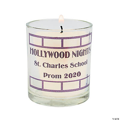 Personalized Hollywood Film Strip Votive Holders