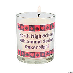 Personalized Casino Votive Holders
