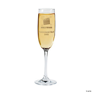"Personalized ""Hollywood"" Champagne Flute"