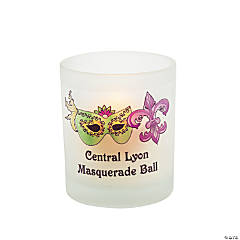 Personalized Masquerade Votive Candleholders