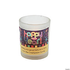 "Personalized ""Happy New Year"" Votive Holders"