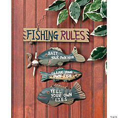 """Fishing Rules"" Sign"