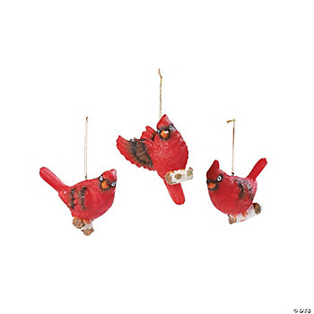 Cardinal Winter Ornaments