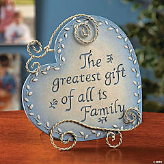 Heart-Shaped Family Plaque