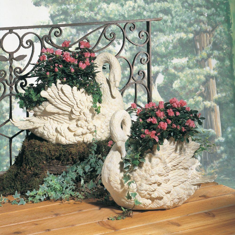 Swan Planter Facing Right Home Decor Outdoor Decor Garden
