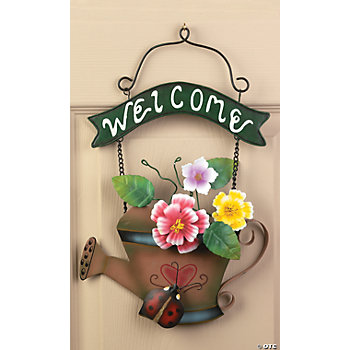 "Watering Can ""Welcome"" Sign"