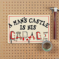 """A Man's Castle..."" Wall Plaque"