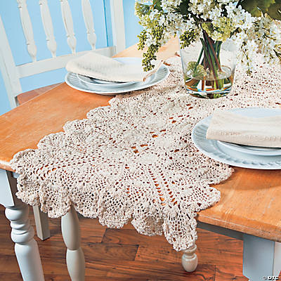 Large Crocheted Table Runner - 6 ft.