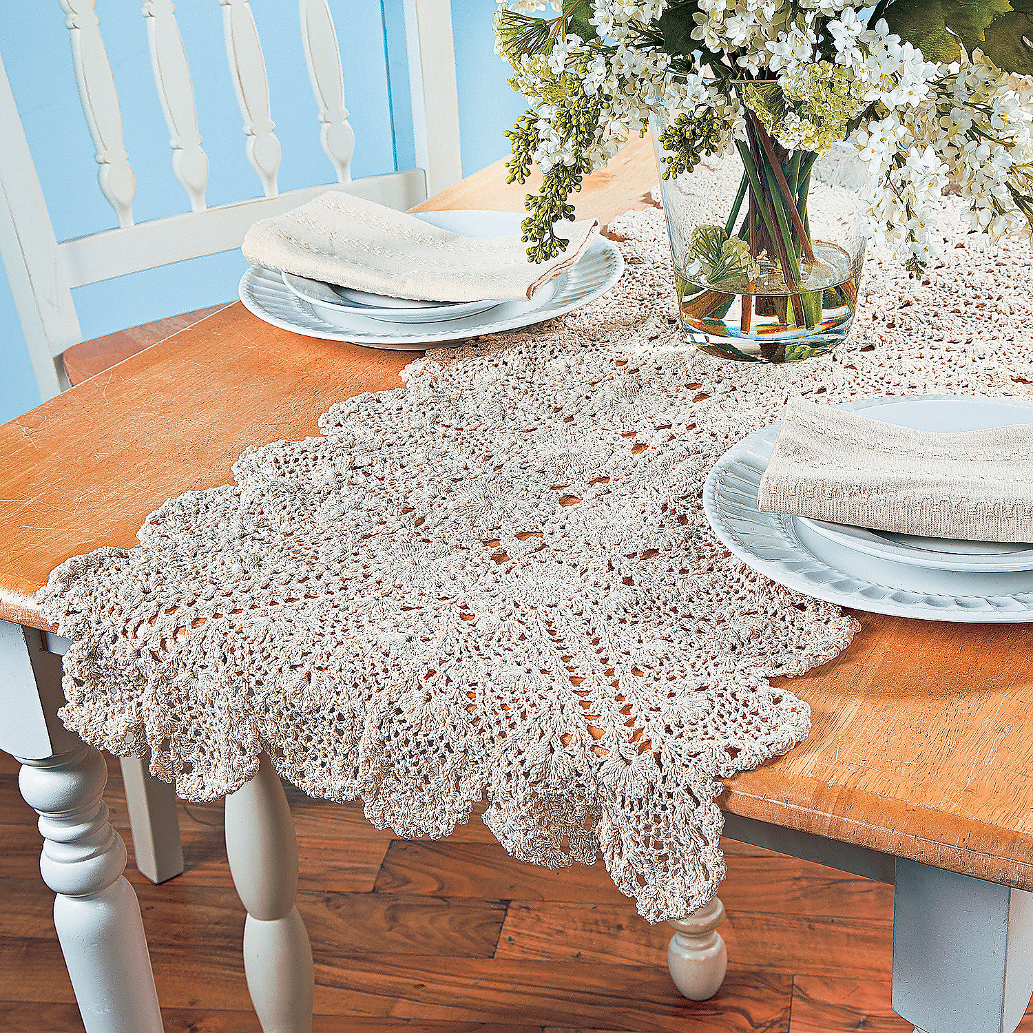 Large crocheted table runner 6 ft oriental trading for 12 ft table runner