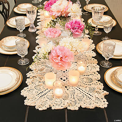 Crocheted Table Runner - 54""
