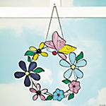 Flower & Butterfly Wreath