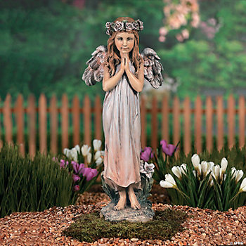 Praying Angel with Rose Halo