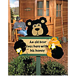 """Old Bear"" Yard Stake"