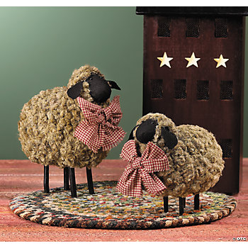 Birds For Sale >> Folk-Art Sheep, Decorative Accessories, Home Decor - Terry's Village Holiday Decor - Discontinued