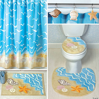 Seashell bath collection value party supplies for Seashell bathroom set