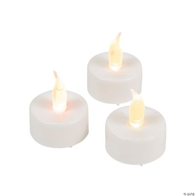 White Battery-Operated Tea Light Candles