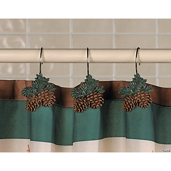 Pinecone Shower Curtain Hooks