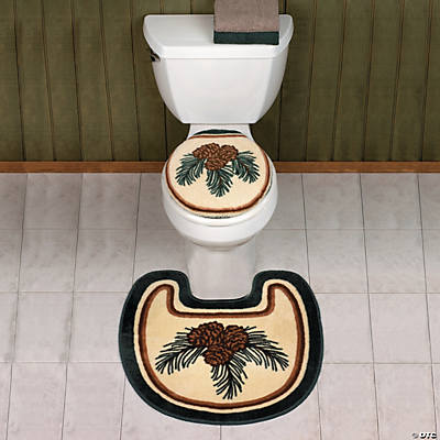 Lodge Toilet Lid Cover & Rug