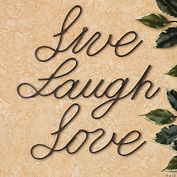 """Live"", ""Laugh"", ""Love"" Wall Words"