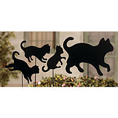 Cat Family Yard Stakes