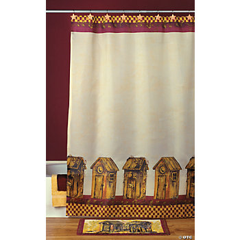 Outhouse Shower Curtain - Oriental Trading - Discontinued