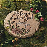 """Bloom Where God Plants You"" Stepping-Stone"