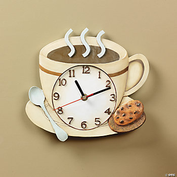 Home decor accents holiday decorations accessories terry 39 s village - Coffee themed wall clocks ...