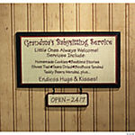 """Grandma's Babysitting Service"" Sign"