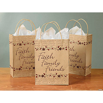 """Faith, Family, Friends"" Paper Bags"