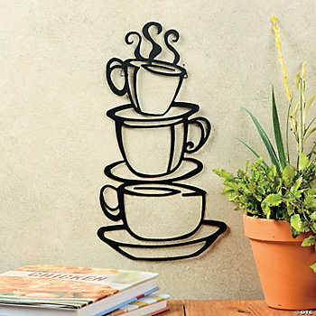 Coffee Cups Wall Hanging