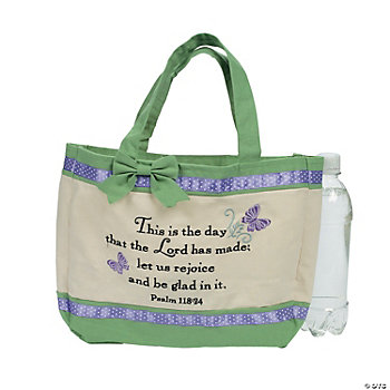 Embroidered Bible Bag