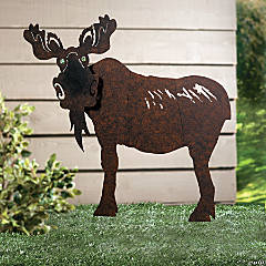 Moose Yard Stake with Marble Eyes