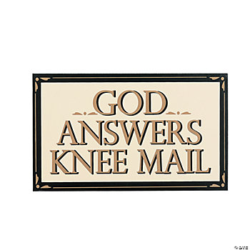 """Knee Mail"" Sign"