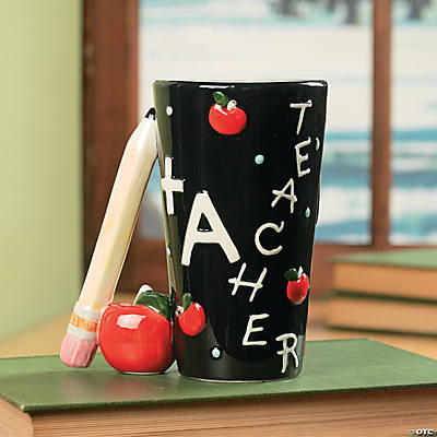Teacher Mug with Pencil Handle